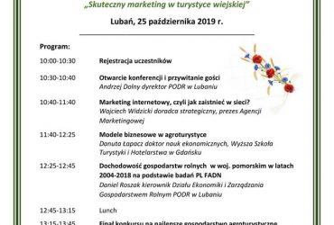"""Konferencja agroturystyczna """"Skuteczny marketing w turystyce wiejskiej"""""""