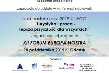 """Konferencja naukowa """"Turystyka i praca – lepsza przyszłość dla wszystkich"""""""