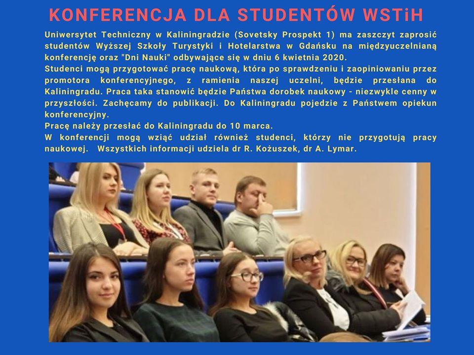 Zaproszenie na konferencję dla studentów WSTiH