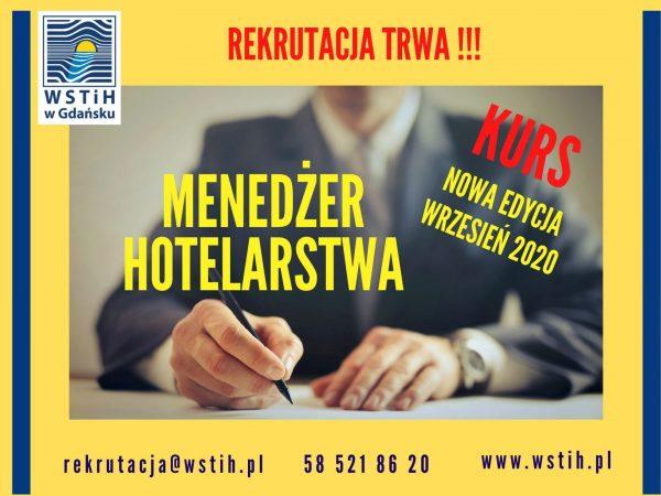 Kurs Menedżera Hotelarstwa – nowa edycja