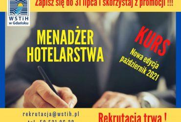 Kurs Menadżera Hotelarstwa – nowa edycja